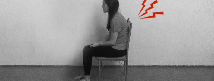 neparvilno sjedenje